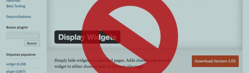Retirado el plugin Display Widgets del repositorio oficial de WordPress.